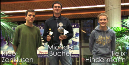 Michi Bucher Sieger des Finals des National University Chess Contests