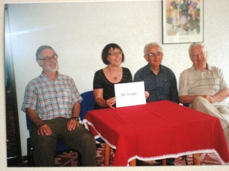 Engener Seniorenmannschaft (v.l.n.r. Robert Schetty, Renate Löwner, Horst Zesiger und Klaus Bürßner)